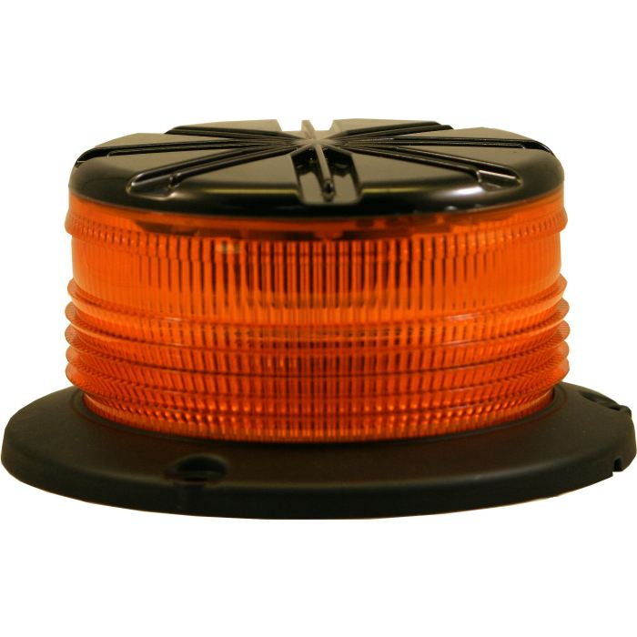 Led Low-Profile Strobe Warning Light - 8 Leds - Bolt Or Vacuum Mount - Choose From 5 Colors - Transportation Safety