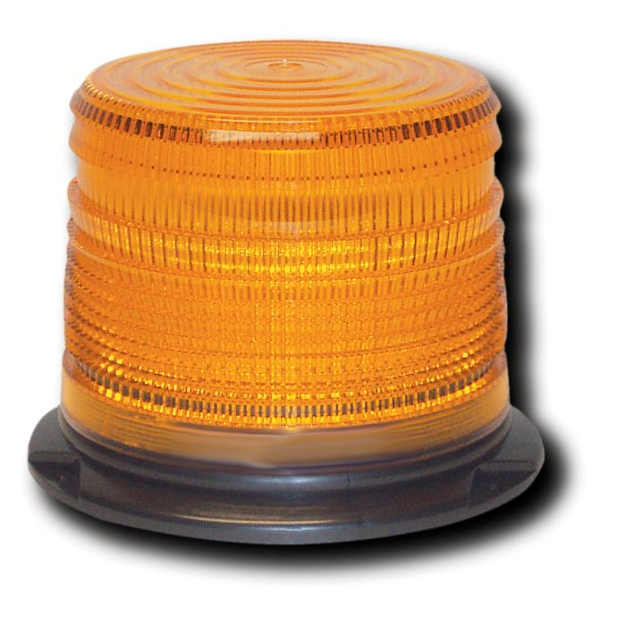 Low-Profile Quad-Flash Warning Light - Twist-On Lens - Choose From 4 Colors - Transportation Safety