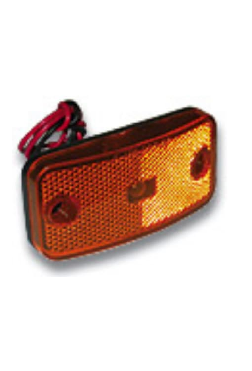 Marker Light With Twist Lock Plug - More Colors - Amber W/black Base - Transportation Safety