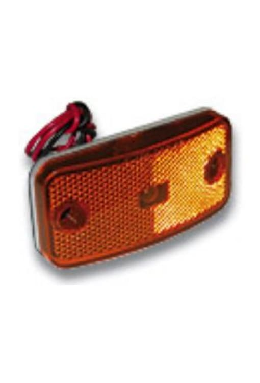 Marker Light With Twist Lock Plug - More Colors - Amber W/white Base - Transportation Safety