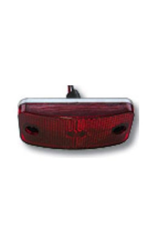 Marker Light With Twist Lock Plug - More Colors - Red W/white Base - Transportation Safety
