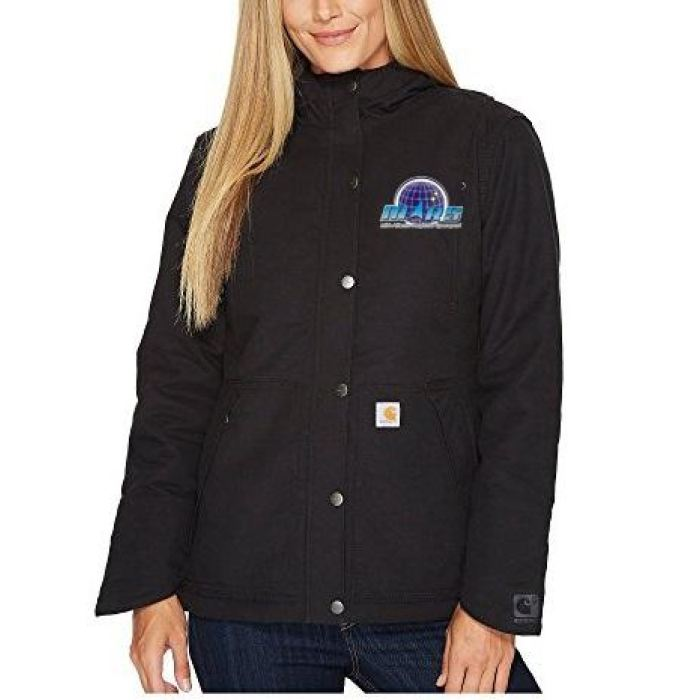 Mars/va Carhartt Womens Full Swing Cryder Jacket Black - Embroidered - Mars Logo Wear
