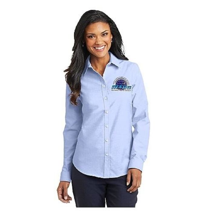 Mars/va Port Authority® Ladies Superpro Oxford Shirt - Embroidered - Mars Logo Wear