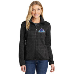 Mars/va Port Authority® Ladies Sweater Fleece Jacket Embroidered - Mars Logo Wear