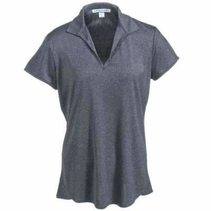 Mars/va Port Authority® Ladies Trace Heather Polo- Short Sleeve - Charcoal Grey - Embroidered - Mars Logo Wear