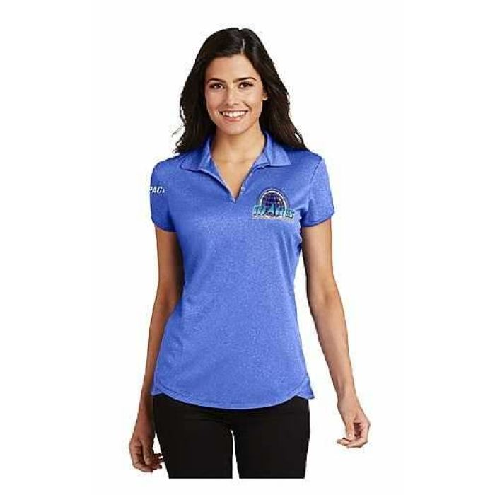 Mars/va Port Authority® Ladies Trace Heather Polo- Short Sleeve - Royal Blue - Embroidered - Mars Logo Wear