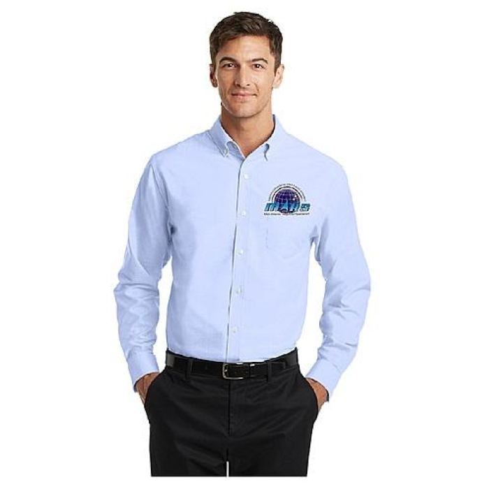 Mars/va Port Authority® Superpro Oxford Shirt - Embroidered - Mars Logo Wear
