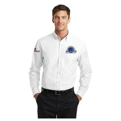Mars/va Port Authority® Superpro Oxford Shirt - White - Embroidered - Mars Logo Wear