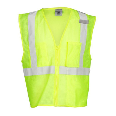 Ml Kishigo 3 Pocket Zipper Mesh Vest - Highway Safety
