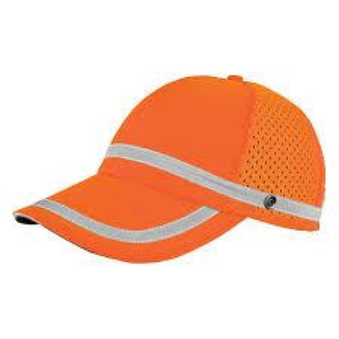 Ml Kishigo Baseball Cap W/ Snaps Orange Or Lime - Highway Safety