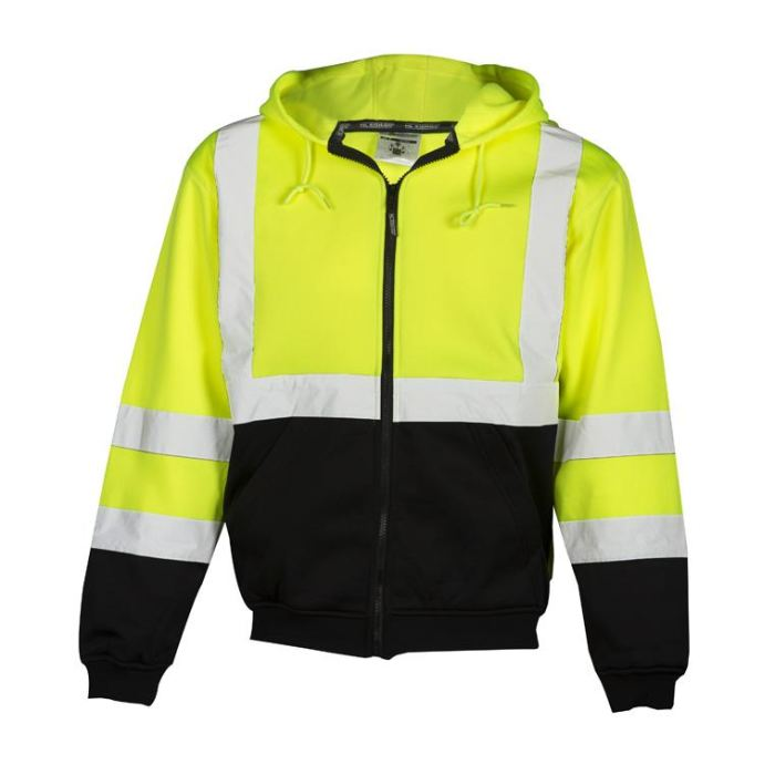 Ml Kishigo Brilliant Series Hoodie Sweatshirt With Zipper - Lime Green / Medium - Highway Safety