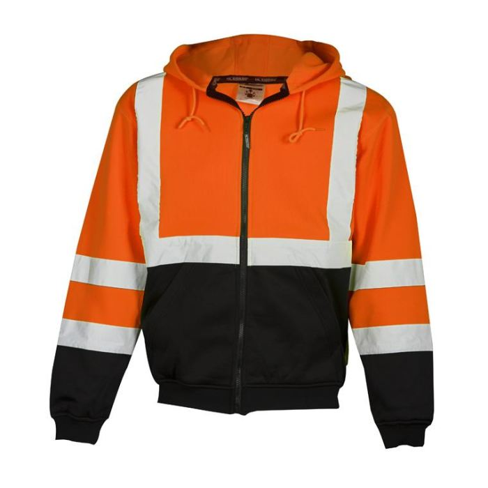 Ml Kishigo Brilliant Series Hoodie Sweatshirt With Zipper - Orange / Medium - Highway Safety