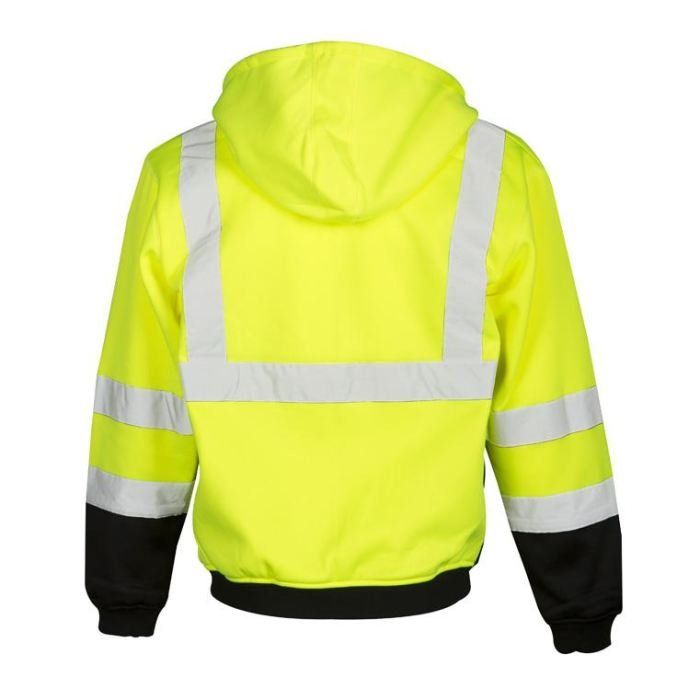 Ml Kishigo Brilliant Series Hoodie Sweatshirt With Zipper - Highway Safety