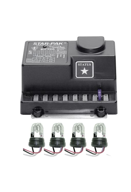 Multi-Head Remote Strobe System 4 Head 75 Watt - Transportation Safety