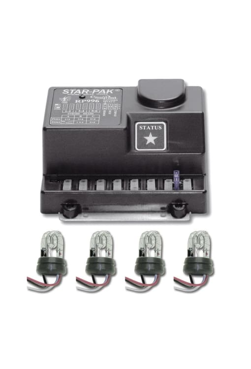 Multi-Head Remote Strobe System 4 Head 90 Watt - Transportation Safety