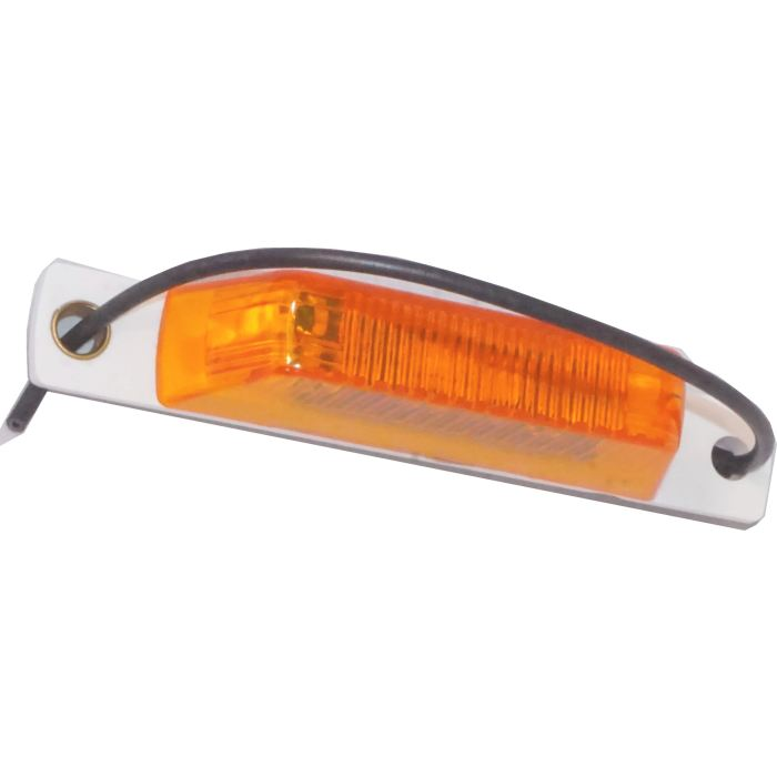 Pc-Rated Thinline Led Marker Light W/ Pigtail - Amber Or Red - Transportation Safety