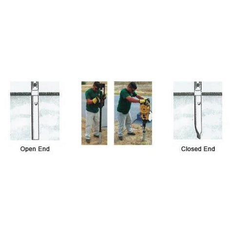 Safehit 18 Closed End Galvanized Soil Anchors - Highway Safety