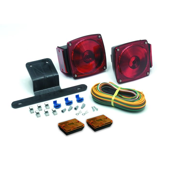 Submersible Trailer Light Kit - 9 Wire Leads - Under 80 Wide - Transportation Safety