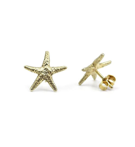 Starfish earrings - gold