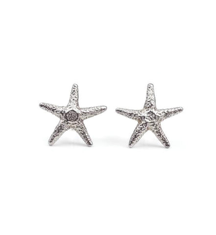 Starfish earrings - silver