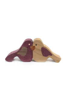 Wooden Lovebirds - magnetised