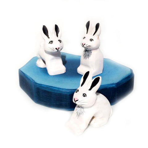 Wooden Toys - snowshoe hares