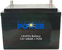 Ultimate Power Lithium Ion Battery, 100 Amp Hour