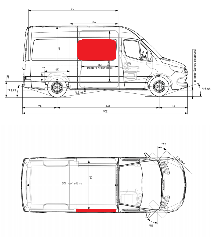 Ford Transit 2015+ (High Roof) Magnetic Insulating Curtain - Side Window