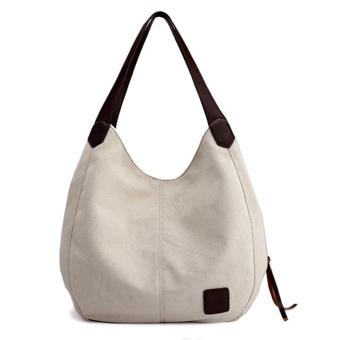 Piler Large Women Handbag Bag Canvas Zipper Pockets