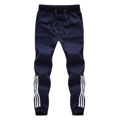 Tracksuit Bottoms Mens Casual Pants Cotton Sweatpants Mens Joggers Striped Pants Gyms Clothing Plus