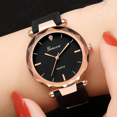 Relojes mujer Fashion Ladies Wrist Watch  Round Glass Silicone Strap in 9 Colors For  Women