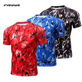 FANNAI Compression Shirt Mens Running Short Sleeve
