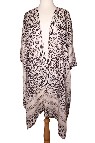 One Size Kimono's Leopard, Snake Skin, Floral, & Teal