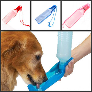 350ml Potable Pet Dog Cat Water Feeding Drink Bottle Dispenser Pet Portable Water Dispenser Blue/Red/Pink
