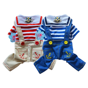 Overalls with Anchor Print