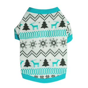 Blue & White Christmas Sweater