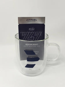 JetFuel Coffee Double Wall Glass Mug