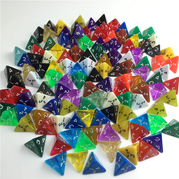 Four Sided Polyhedral Dice (D4)