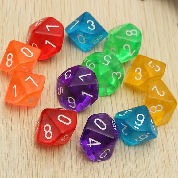 Ten Sided Polyhedral Dice (D10)