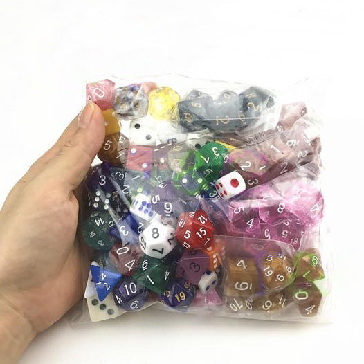 Bundle of 100 Random Polyhedral Dice!