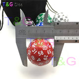 Five Solid Acrylic Sixty Sided Polyhedral Dice