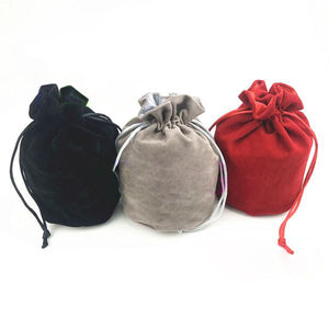 Large Velvet Dice Bag with Lined Interior