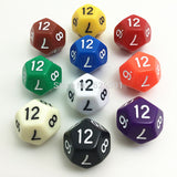 Ten Solid Acrylic Twelve Sided Polyhedral Dice