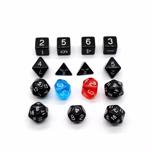 5E Special! Bag of 15 Polyhedral Dice for the latest Role Playing Games