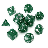 Ten Pearl Texture Acrylic Polyhedral Dice (Includes D24 & D30)