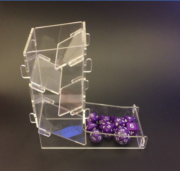 Clear Plastic Die Rolling Tower