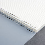 A5 Spiral Notebook with Transparent Cover and Dots or Grids