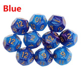 Ten Twelve Sided Pearl/Marble Finish Polyhedral Dice