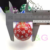 Solid Acrylic Sixty Sided Die (D60)
