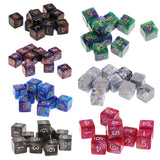 Ten 16mm Six Sided Acrylic Dice with Pearl Finish